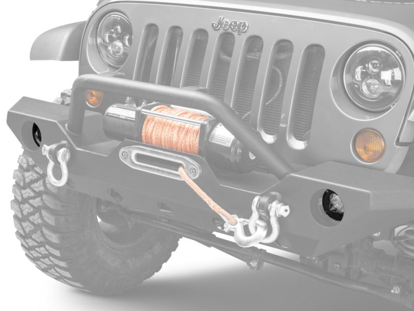 Rugged Ridge Fog Light Mounting Brackets for 3.5 in. Round LED Lights (07-18 Jeep Wrangler JK)