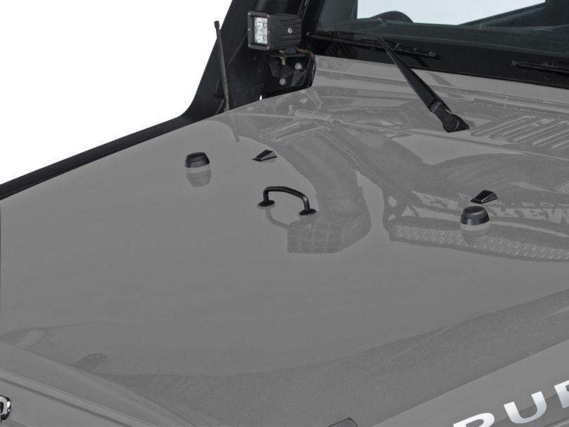 Rugged Ridge Windshield Tie Down Kit - Semi-Gloss Black (13-18 Jeep Wrangler JK)