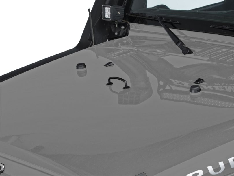 Rugged Ridge Windshield Tie Down Kit - Black (13-18 Jeep Wrangler JK)
