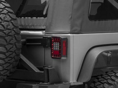 Rugged Ridge Smoked LED Tail Light Set (07-18 Jeep Wrangler JK)