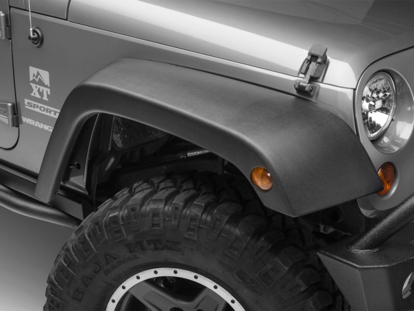 4-Piece OE Style Replacement Fender Flares (07-18 Jeep Wrangler JK)