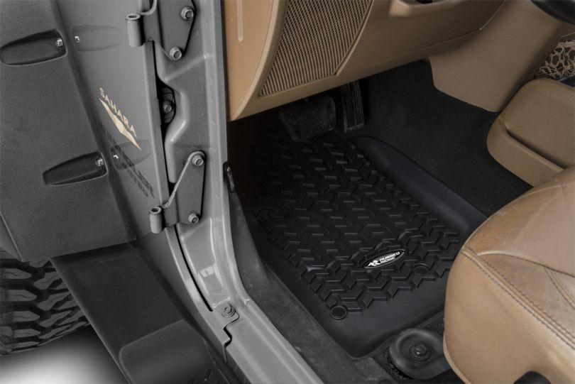 Rugged Ridge All-Terrain Front, Rear & Cargo Floor Mats - Black (11-18 Jeep Wrangler JK 4 Door)