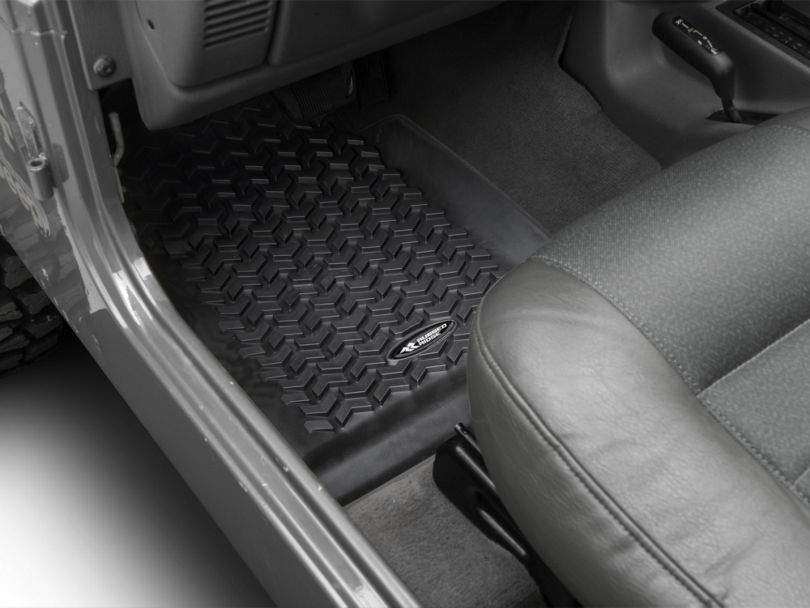 Rugged Ridge All-Terrain Front, Rear & Cargo Floor Mats - Black (97-06 Jeep Wrangler TJ)