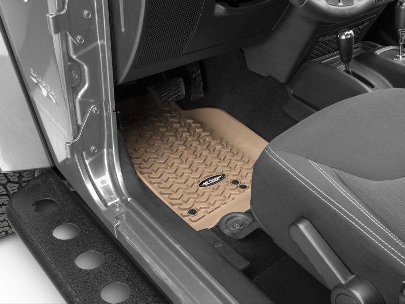 Rugged Ridge All-Terrain Front, Rear and Cargo Floor Mats; Tan (11-18 Jeep Wrangler JK 4 Door)