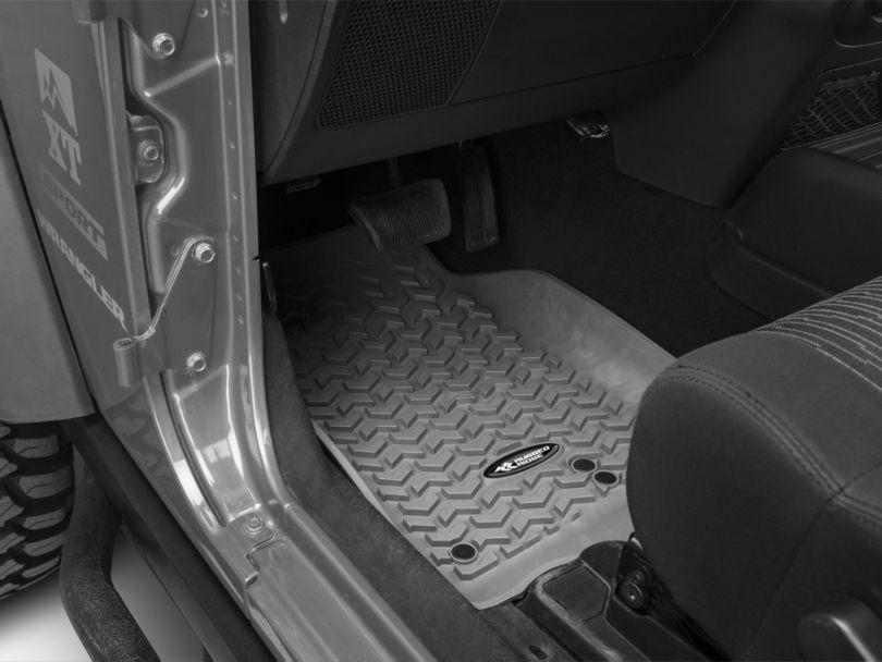 Rugged Ridge All-Terrain Front, Rear and Cargo Floor Mats; Gray (11-18 Jeep Wrangler JK 2 Door)