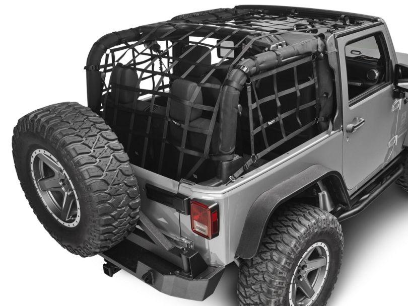 Rugged Ridge Cargo Net - Black (07-18 Jeep Wrangler JK 2 Door)