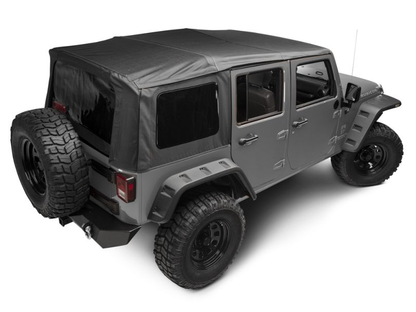 Rugged Ridge XHD Soft Top w/ Spring Assist - Black Diamond (07-09 Jeep Wrangler JK 4 Door)