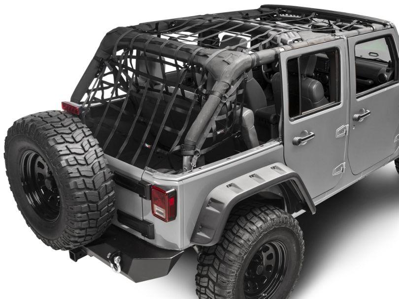 Rugged Ridge Cargo Net; Black (07-18 Jeep Wrangler JK 4 Door)