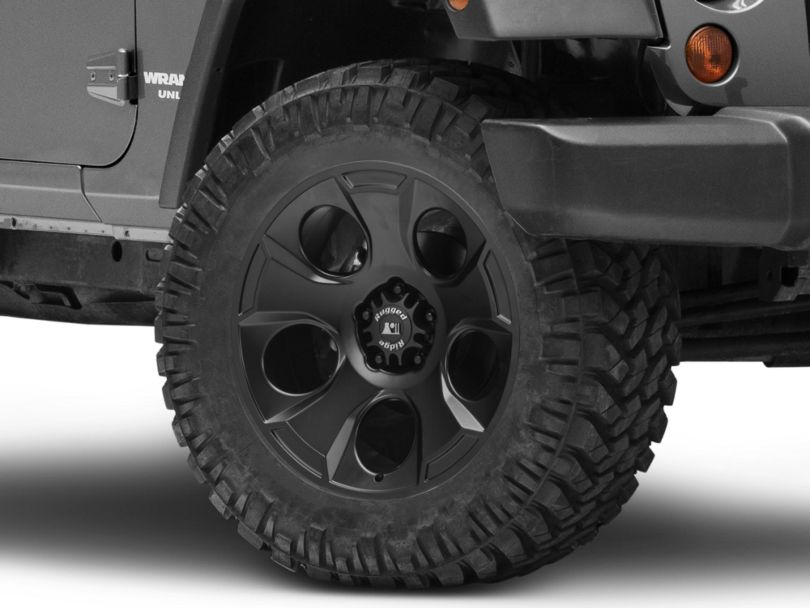 Rugged Ridge Drakon Satin Black Wheel; 20x9 (07-18 Jeep Wrangler JK)