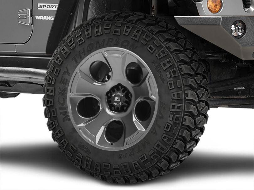 Rugged Ridge Drakon Gunmetal Gray Wheel; 20x9 (07-18 Jeep Wrangler JK)