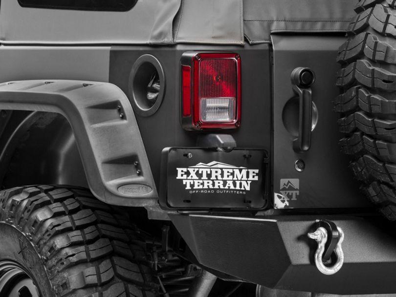 Rugged Ridge Rear Corner Body Armor - Matte Black (07-18 Jeep Wrangler JK 4 Door)