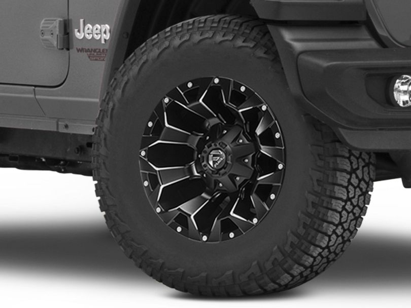 Fuel Wheels Assault Satin Black Machined Wheel; 17x9 (18-20 Jeep Wrangler JL)