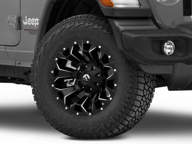 Fuel Wheels Assault Black Machined Wheel - 18x9 (18-20 Jeep Wrangler JL)