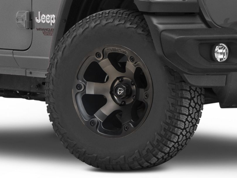 Fuel Wheels Beast Black Machined Wheel - 17x9 (18-20 Jeep Wrangler JL)