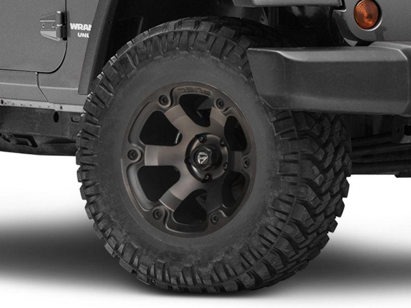 Fuel Wheels Beast Matte Black Machined Wheel - 17x9 (07-18 Jeep Wrangler JK)