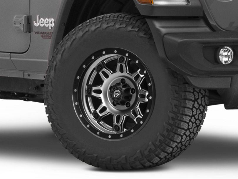 Fuel Wheels Hostage III Gunmetal & Black Wheel - 17x9 (18-20 Jeep Wrangler JL)