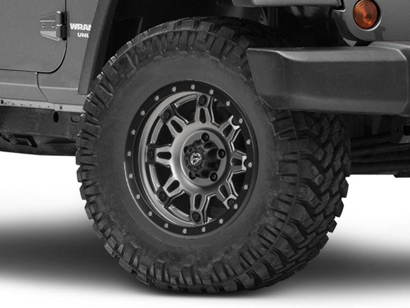Fuel Wheels Hostage III Gunmetal and Black Wheel; 17x9 (07-18 Jeep Wrangler JK)