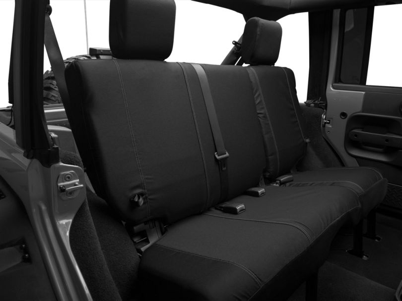 Barricade Custom Rear Seat Cover; Black (07-18 Jeep Wrangler JK 4 Door)