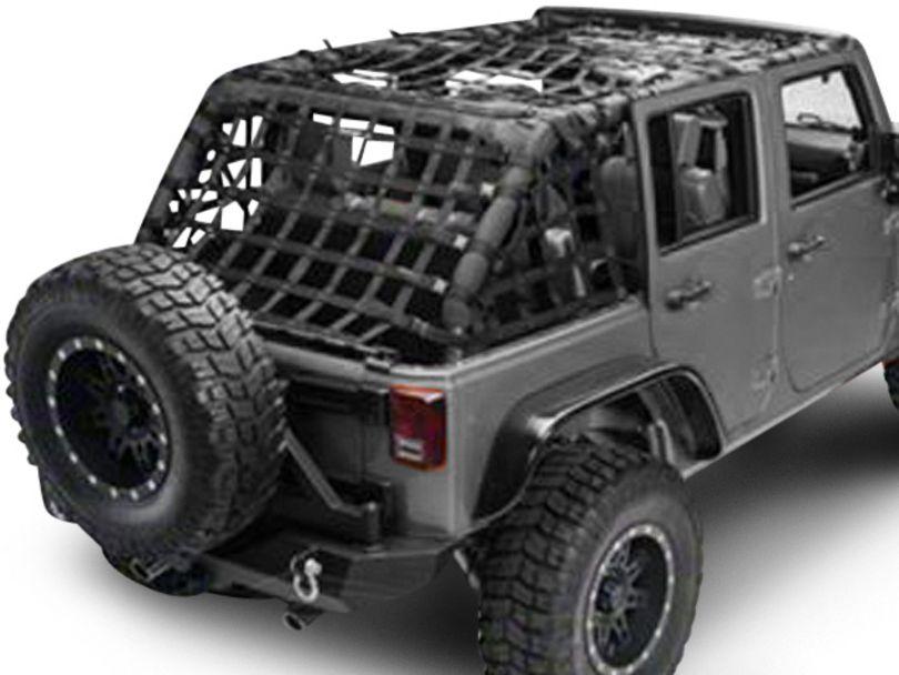 Dirty Dog 4x4 Full Netting Kit - Black (07-18 Jeep Wrangler JK 4 Door)