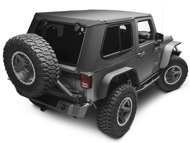 Bestop Trektop Pro Hybrid Soft Top - Black Twill (07-18 Jeep Wrangler JK 2 Door)