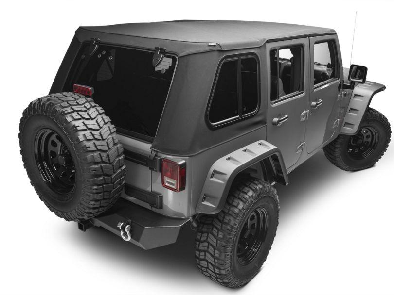 Bestop Trektop Pro Hybrid Soft Top; Black Twill (07-18 Jeep Wrangler JK 4 Door)