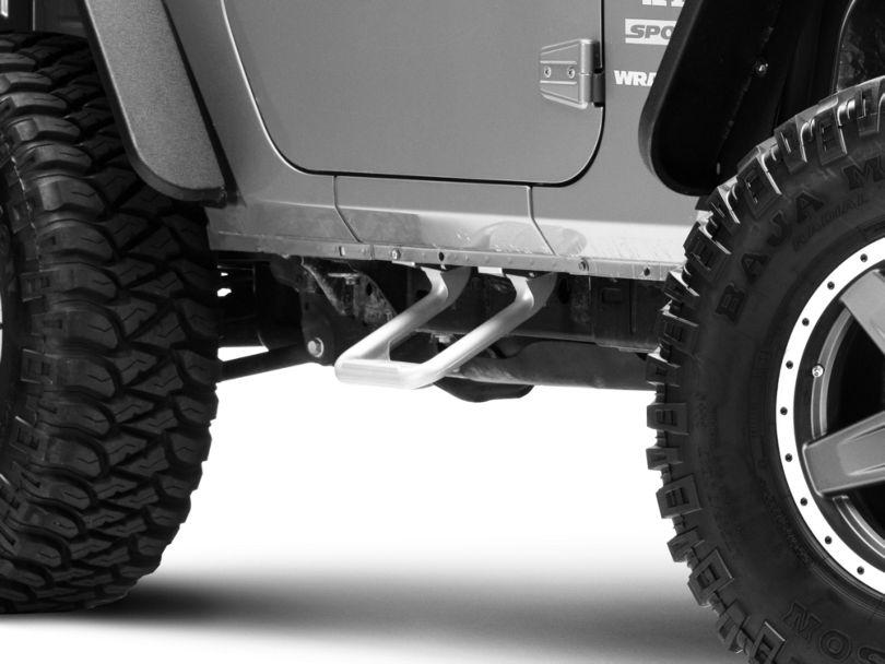 Carr Hoop II Steps - Titanium Silver (07-18 Jeep Wrangler JK)