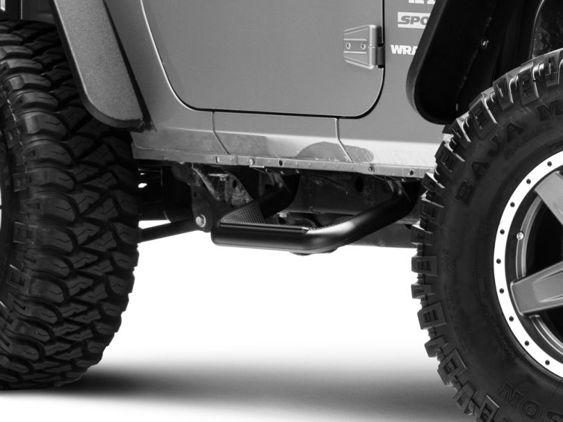 Carr Super Hoop Steps - Black (07-18 Jeep Wrangler JK)