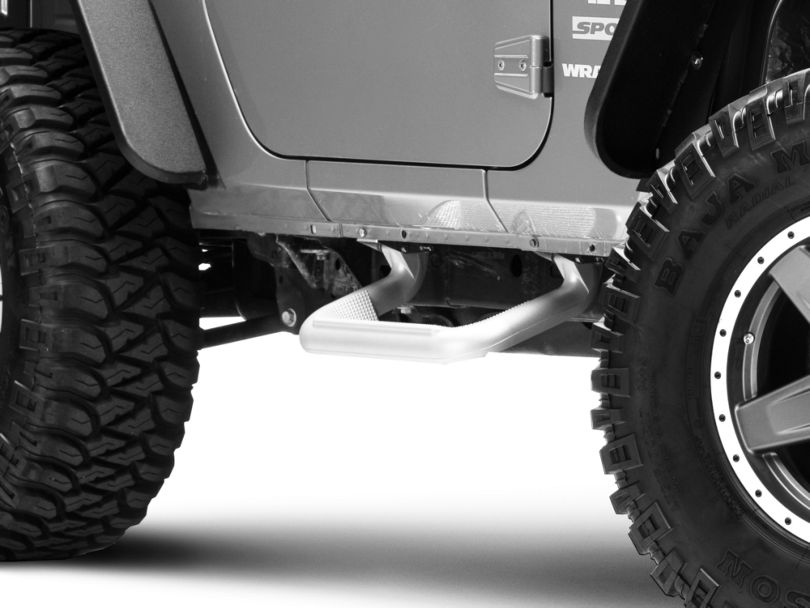 Carr Super Hoop Steps - Titanium Silver (07-18 Jeep Wrangler JK)