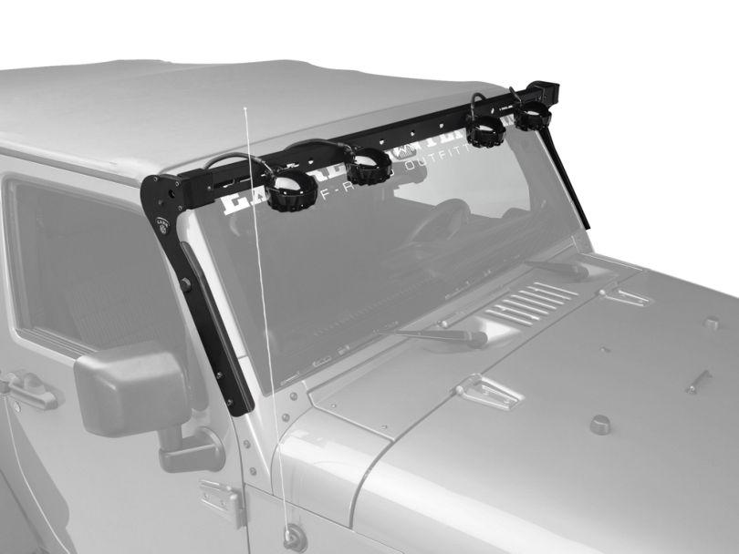 Carr XRS Rota Light Bar; Black (07-18 Jeep Wrangler JK)