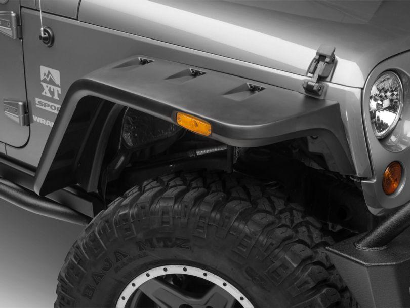 Rugged Ridge Hurricane Fender Flares - Smooth Black (07-18 Jeep Wrangler JK)