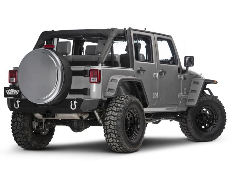 Boomerang 32 in. Rigid Tire Cover - Billet (87-20 Jeep Wrangler YJ, TJ, JK & JL)