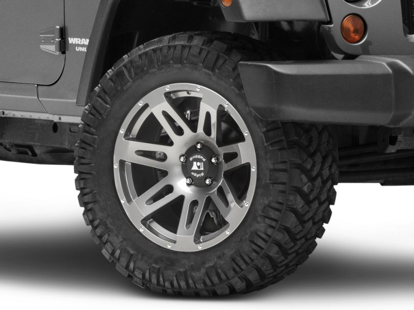 Rugged Ridge XHD Gunmetal Gray Wheel; 20x9 (07-18 Jeep Wrangler JK)