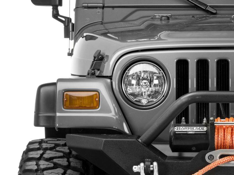 KC HiLiTES 7-Inch H4 Headlight; Single (97-06 Jeep Wrangler TJ)