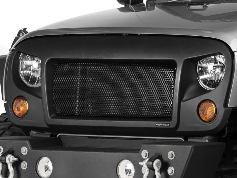 Rugged Ridge Spartan Grille; Satin Black (07-18 Jeep Wrangler JK)