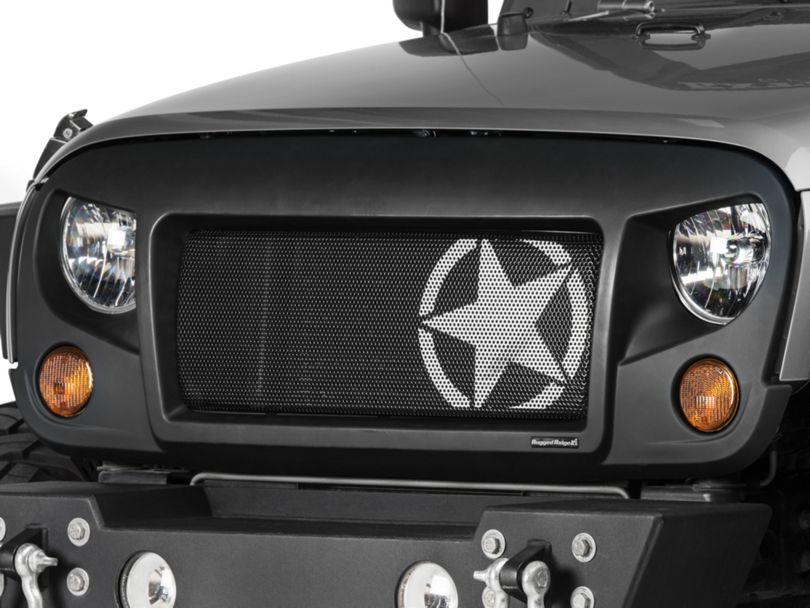 Rugged Ridge Spartan Grille Insert - Star (07-18 Jeep Wrangler JK)