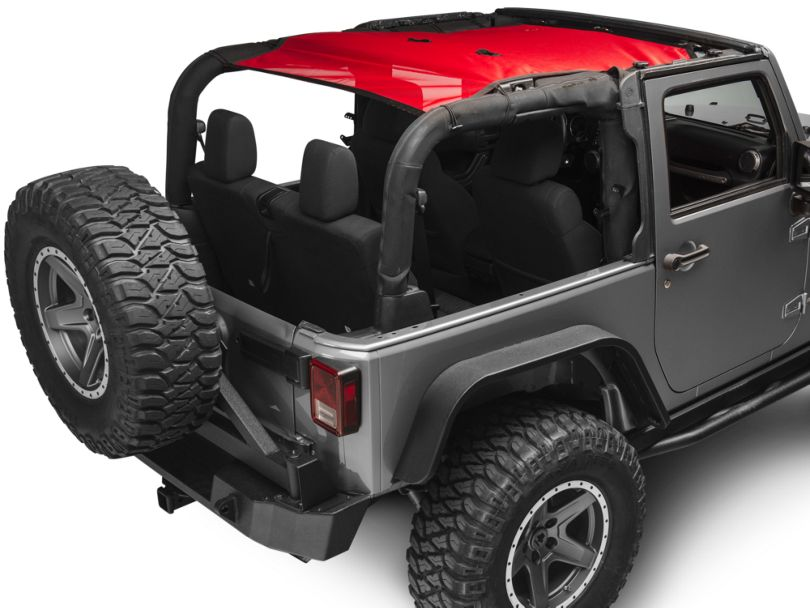 Rugged Ridge Full-Length Eclipse Sun Shade; Red (07-18 Jeep Wrangler JK 2 Door)
