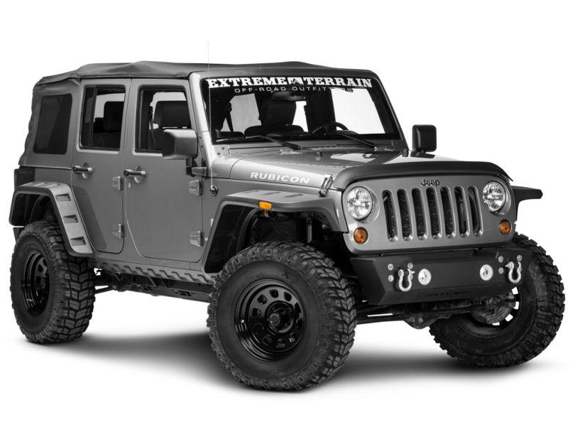 Rugged Ridge 5-Piece Body Armor Kit - Smooth Matte Black (07-18 Jeep Wrangler JK 4 Door)