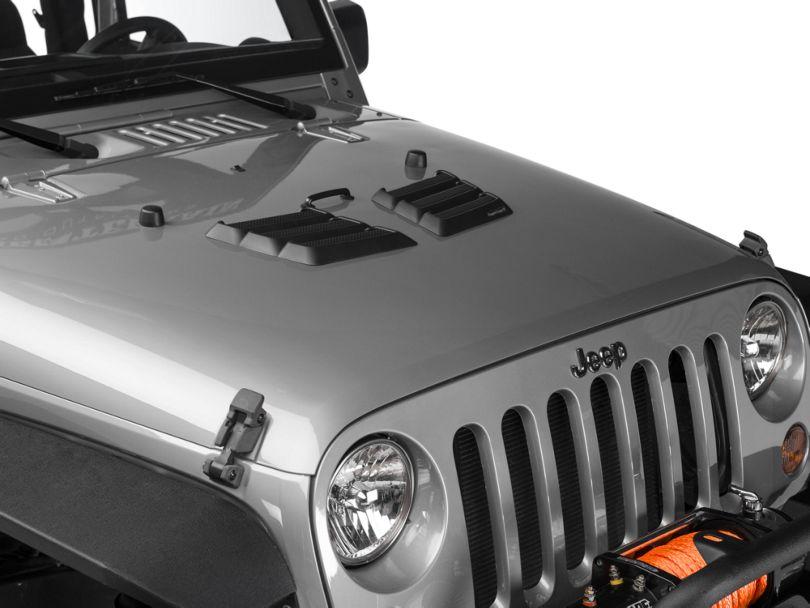 Rugged Ridge Performance Hood Vents - Black (97-18 Jeep Wrangler TJ & JK)