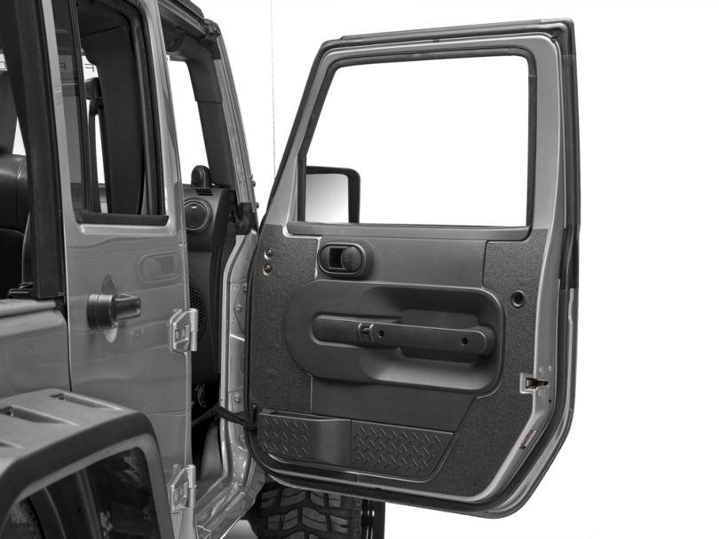 RedRock 4x4 Black Interior Door Shield (07-10 Jeep Wrangler JK 4 Door)