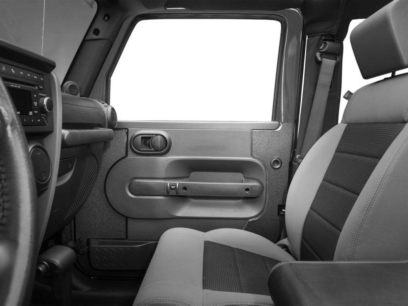 SEC10 Interior Door Body Shield; Black (07-10 Jeep Wrangler JK 2 Door)
