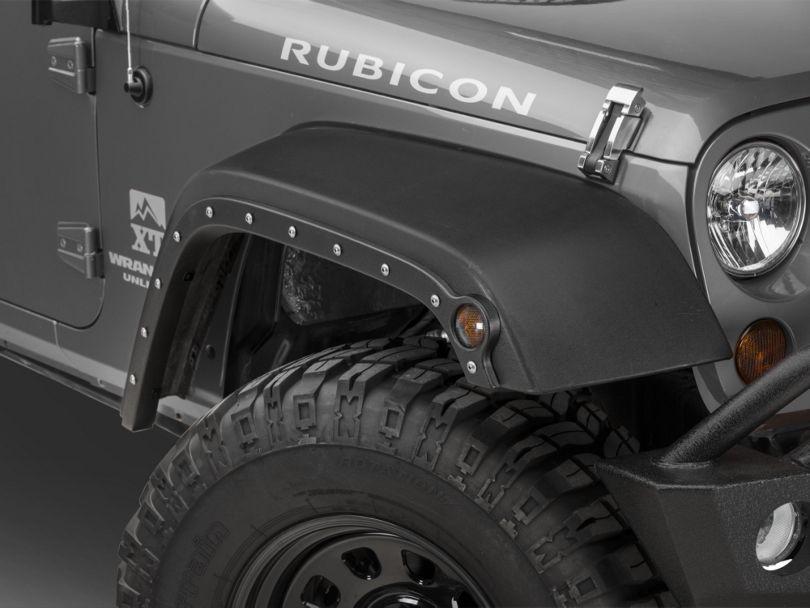 RBP No Drill Fender Trim w/ RBP Logo Bolts - Textured Black (07-18 Jeep Wrangler JK)