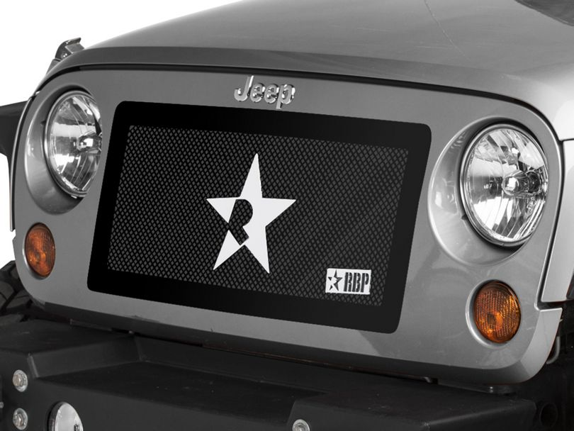 RBP RL Series Smooth Frame Grille - Black (07-18 Jeep Wrangler JK)