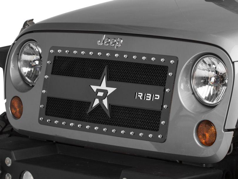 RBP RX-3 Series Studded Frame Grille - Black (07-18 Jeep Wrangler JK)