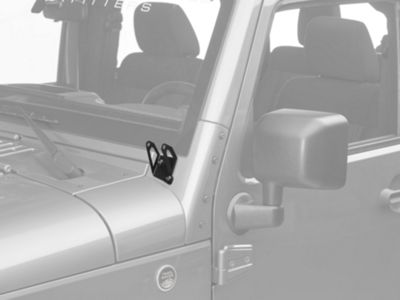 Add Rigid Industries D-Series A-Pillar Light Mount Kit (07-17 Wrangler JK)