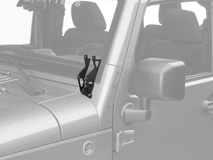 Rigid Industries Dual D-Series A-Pillar Light Mount Kit (07-18 Jeep Wrangler JK)