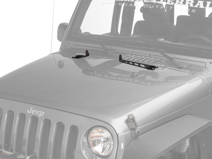 Rigid Industries 10 in. E-Series Hood Mounting Brackets (07-18 Jeep Wrangler JK)
