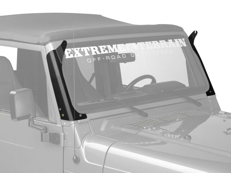 Rigid Industries 50 in. E-Series or SR-Series LED Light Bar Windshield Mount (97-06 Jeep Wrangler TJ)