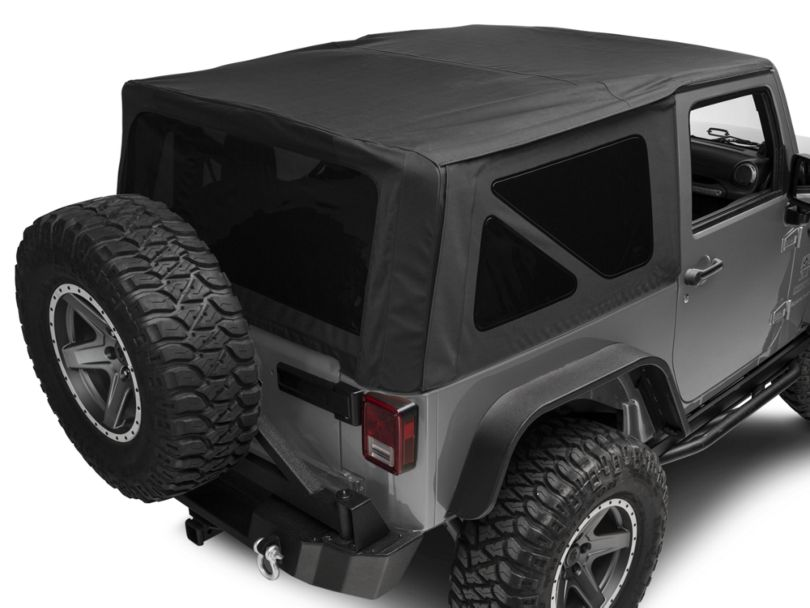 Rugged Ridge Replacement Soft Top with Tinted Windows; Black Diamond (10-18 Jeep Wrangler JK 2 Door)