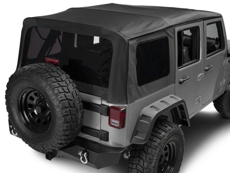 Rugged Ridge Replacement Sailcloth Soft Top with Tinted Windows - Black Diamond (10-18 Jeep Wrangler JK 4 Door)