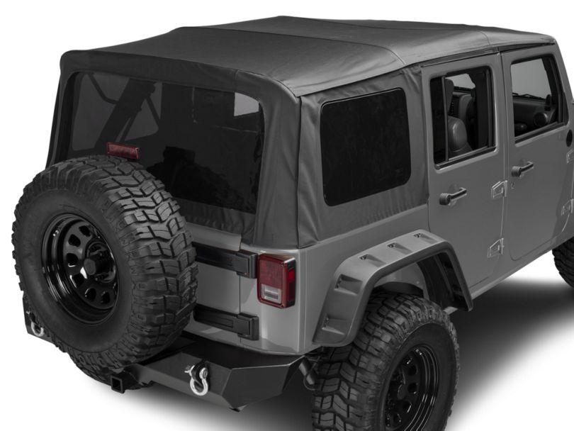 Rugged Ridge Replacement Soft Top w/ Tinted Windows - Black Diamond (10-18 Jeep Wrangler JK 4 Door)